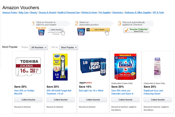 How to use Amazon Vouchers to drive sales