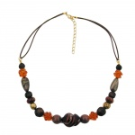 Necklace, Screw Bead, Mixed Colour Combination of Beads