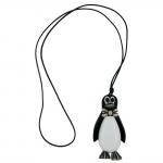 NECKLACE, PENGUIN, ANTIQUE-SILVER, 90CM
