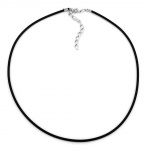 Necklace, 2mm Rubber band, Silver Clasp, 42cm