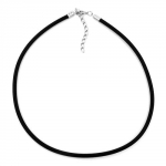 Necklace, 4mm, Rubber band, Silver-Coloured Clasp, 42cm