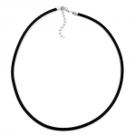Necklace, 4mm, Rubber band, Silver-Coloured Clasp, 55cm