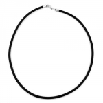 Necklace, 4mm, Rubber band, Silver-Coloured Clasp, 80cm