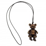 NECKLACE, BEAR, ANTIQUE BRASS, 90CM