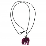 Necklace, Elephant, Purple Marbled