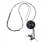 NECKLACE, RINGS, GLOSSY LAVENDER, 100CM