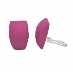 earring clip-on trapezium, pink matt