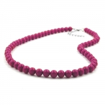 CHAIN, WITH PURPLE BEADS 8MM, 40CM