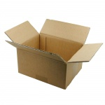 Foldable Box, High, Brown, Pre-Punched