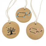 Necklace wooden pendant fantasy design