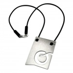 NECKLACE, INITIALE O, STAINLESS STEEL, 42CM