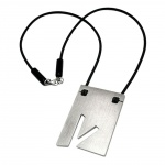 NECKLACE, INITIALE V, STAINLESS STEEL, 42CM