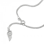 Ankle Chain, Angel Wing Tag, Silver 925, 25CM