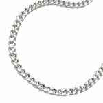 NECKLACE, FLAT CURB CHAIN, SILVER 925, 50CM