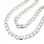 Necklace, Open Curb Chain, Silver 925, 45CM