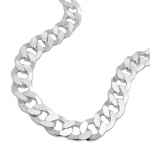 necklace, curb chain, 45cm, silver 925