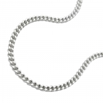 necklace, curb chain, 70cm, silver 925