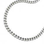 Necklace, Curb Chain, Silver 925, 45CM