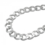 NECKLACE, OPEN CURB CHAIN, SILVER 925, 55CM