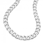 OPEN CURB CHAIN, DIAMOND CUT, SILVER 925, 60CM