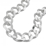 Necklace Open Curb Chain 11mm 925 Sterling Silver 55cm