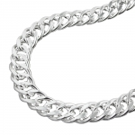 NECKLACE, DOUBLE ROMBO CHAIN, SILVER 925, 55CM