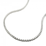 NECKLACE, BOX CHAIN, SILVER 925 60CM