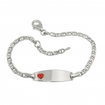 ID bracelet for kids heart silver 925