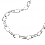 NECKLACE, OVAL ANCHOR CHAIN, SILVER 925, 45CM