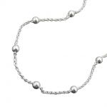 Ankle Chain, With 12 Balls, Silver 925, 25CM