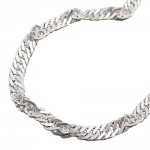 Necklace, Singapore Chain, Silver 925, 60CM