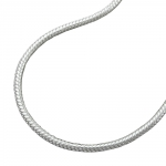 NECKLACE, ROUND SNAKE CHAIN, 1,3MM, SILVER 925, 36CM