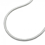 NECKLACE, ROUND SNAKE CHAIN, SILVER 925, 42CM