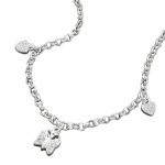 Necklace, Hearts and Butterfly, Silver 925