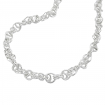 bracelet, fancy chain, silver 925