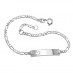 ID Bracelet, with Heart, Silver 925, 19CM