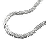 byzantine chain, 2mm square, silver 925