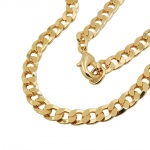 curb chain flat, 50cm, gold-plated