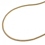 thin curb chain, gold plated