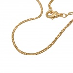 chain, curb, 50cm, gold plated