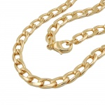 curb chain wide, 50cm, gold-plated