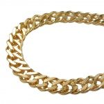 Bracelet, Double Rombo Chain, Gold Plated
