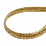 Bracelet, oval curb chain, 5 mm, gold plated, 19cm