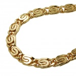 Bracelet, Scroll Chain, 5mm, Gold Plated