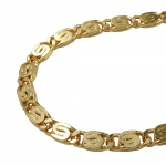 Bracelet, Scroll Chain, 3.5mm, Gold Plated