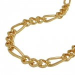 Figaro Chain, Diamond Cut, Gold Plated