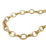 BRACELET, ANCHOR CHAIN, OVAL, GOLD-PLATED, 19CM