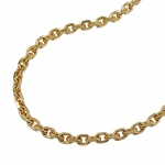 anchor chain, 50cm, gold plated