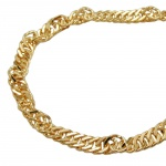 Necklace, Singapore Chain, Gold Plated
