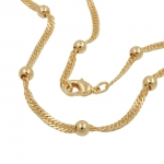 chain singapur 45cm gold-plated